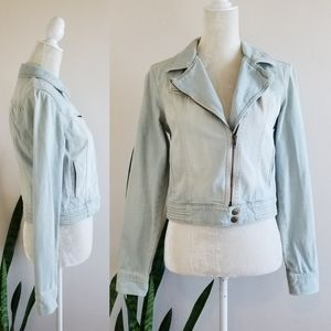 LC Lauren Conrad Denim Moto Jacket